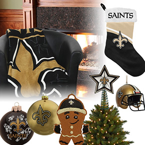 New Orleans Saints Christmas Ornaments