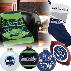 Seattle Seahawks Christmas Ornaments