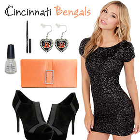 Cincinnati Bengals Inspired Date Look