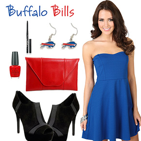 Buffalo Bills Inspired Date Look