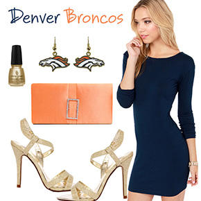 Denver Broncos Inspired Date Look