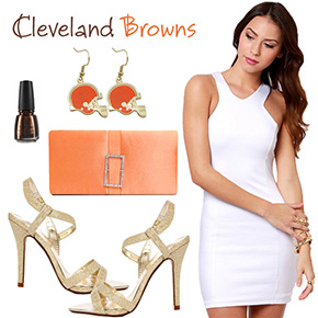 Cleveland Browns Inspired Date Look
