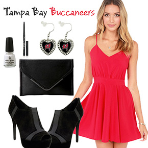 Tampa Bay Buccaneers Inspired Date Look
