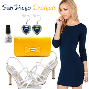 San Diego Chargers Inspired Date Look