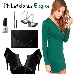 Philadelphia Eagles Inspired Dress