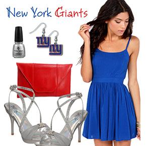 New York Giants Inspired Date Look