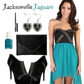 Jacksonville Jaguars Inspired Date Look