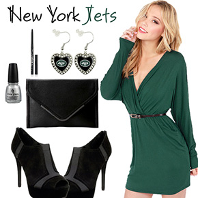 New York Jets Inspired Date Look