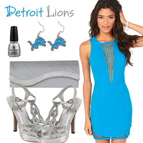 Detroit Lions Inspired Date Look
