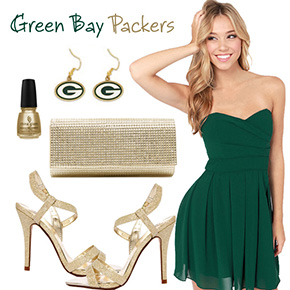Green Bay Packers Inspired Date Look
