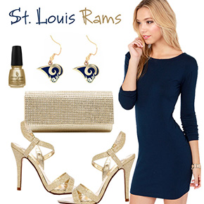 St. Louis Rams Inspired Date Look