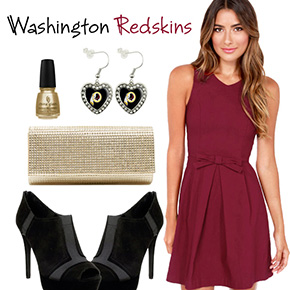 Washington Redskins Inspired Date Look