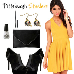 Pittsburgh Steelers Inspired Date Look