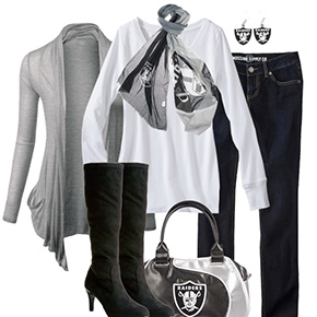 Oakland Raiders Inspired Fall Fashion