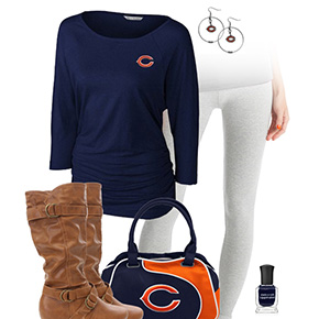 Chicago Bears Inspired Leggings Outfit