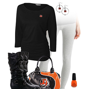 Cincinnati Bengals Inspired Leggings Outfit