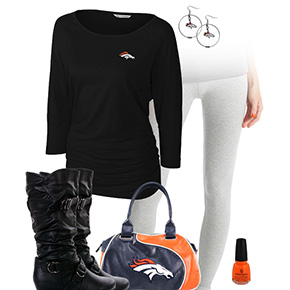 Denver Broncos Inspired Leggings Outfit