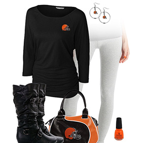 Cleveland Browns Inspired Leggings Outfit