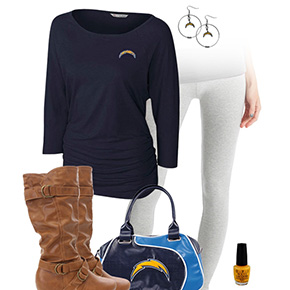 San Diego Chargers Inspired Leggings Outfit