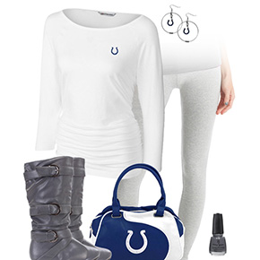 Indianapolis Colts Inspired Leggings Outfit