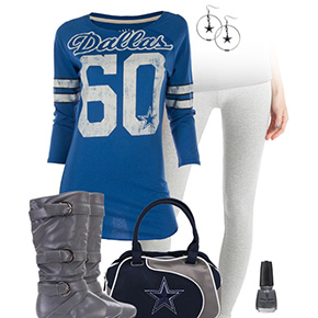 Dallas Cowboys Inspired Leggings Outfit