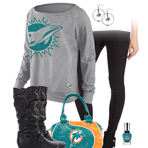 Miami Dolphins Inspired Leggings Outfit
