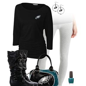 Philadelphia Eagles Inspired Leggings Outfit