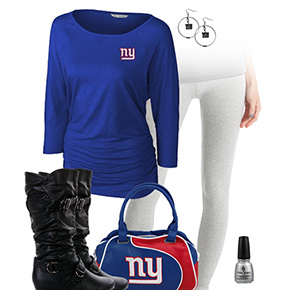 New York Giants Inspired Leggings Outfit