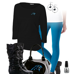 Carolina Panthers Inspired Leggings Outfit
