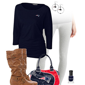 New England Patriots Inspired Leggings Outfit