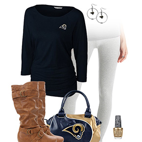 St. Louis Rams Inspired Leggings Outfit