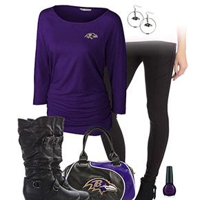 Baltimore Ravens Inspired Leggings Outfit