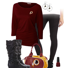 Washington Redskins Inspired Leggings Outfit