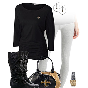 New Orleans Saints Inspired Leggings Outfit
