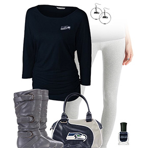 Seattle Seahawks Inspired Leggings Outfit