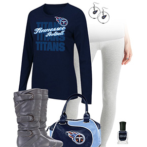 Tennessee Titans Inspired Leggings Outfit