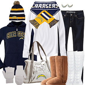 San Diego Chargers Inspired Winter Fashion