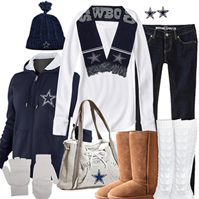 Dallas Cowboys Inspired Winter Fashion