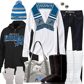 Detroit Lions Inspired Winter Fashion