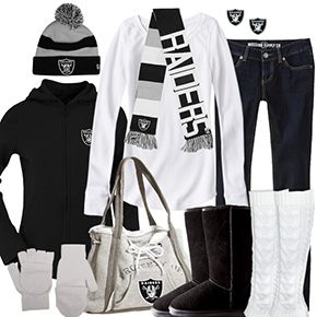 Oakland Raiders Inspired Winter Fashion