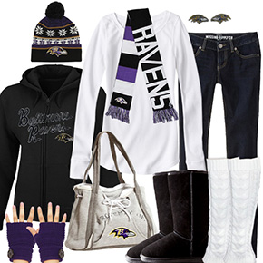 Baltimore Ravens Inspired Winter Fashion
