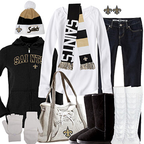 New Orleans Saints Inspired Winter Fashion
