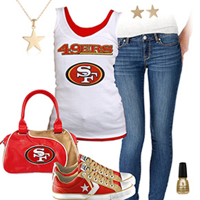 San Francisco 49ers Outfit With Converse