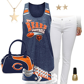 Chicago Bears Outfit With Converse
