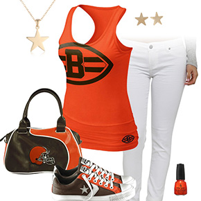 Cleveland Browns Outfit With Converse