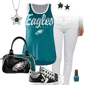 Philadelphia Eagles Outfit With Converse