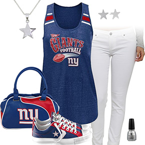 New York Giants Outfit With Converse