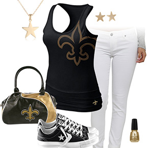 New Orleans Saints Outfit With Converse