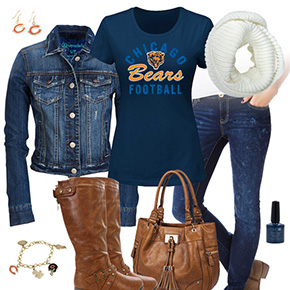 Chicago Bears Jean Jacket Outfit
