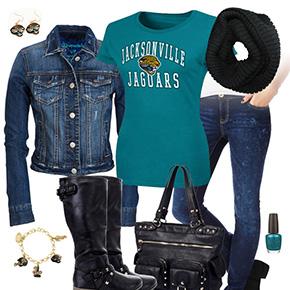 Jacksonville Jaguars Jean Jacket Outfit